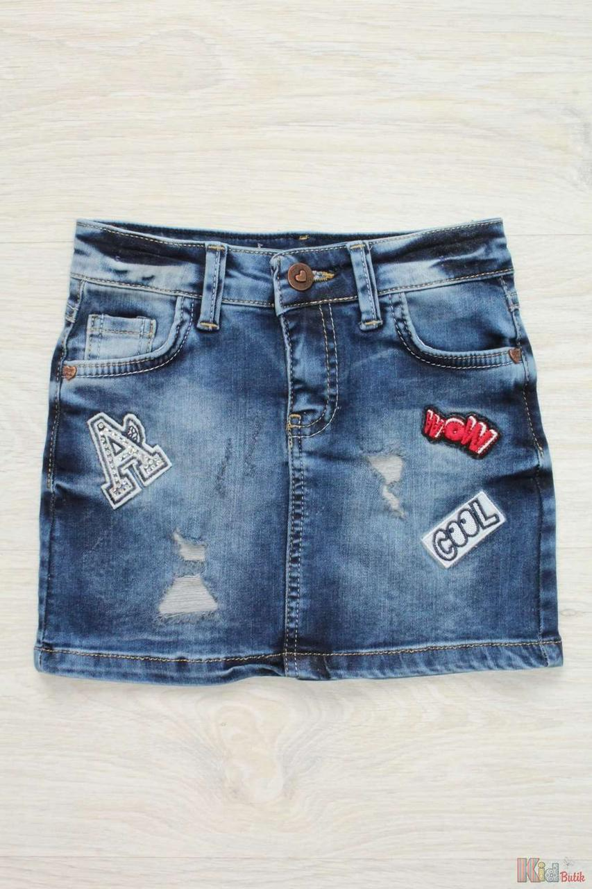 be812869902 Юбка джинсовая с потёртостями для девочки (176 см.) Ozk 2126000262366 -  KidButik.