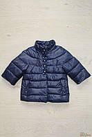 Куртка темно-синего цвета с воротником стойка для девочки (122 см)  Monnalisa 2125000482651