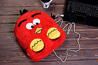Подушка с подогревом Птица Красная