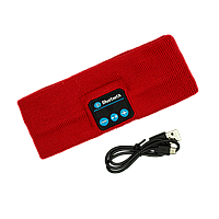 Повязка с Bluetooth  гарнитурой Красная