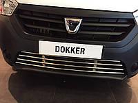 Renault Dokker 2012 Решетка в бампер нержавейка