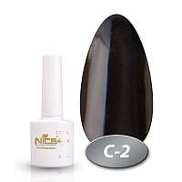 Гель-лак Nice for you Professional 8,5 ml №С02 - черный эмаль
