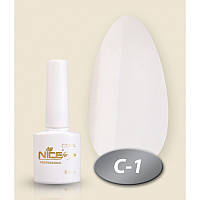 Гель-лак Nice for you Professional 8,5 ml №С01 - белая эмаль