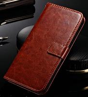Кожаный чехол-книжка для Asus Zenfone 5 коричневый