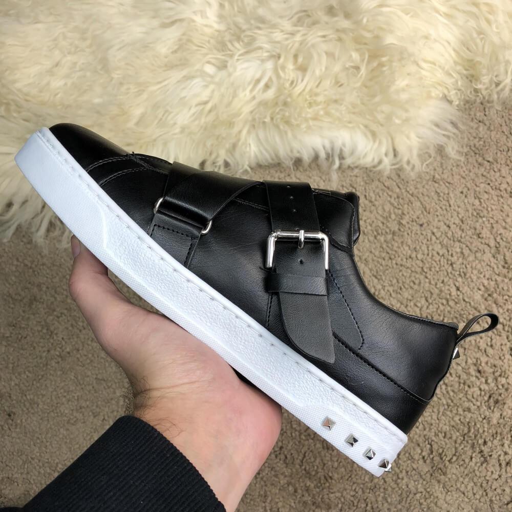 61492a4e4425 Кроссовки Valentino V-Punk Sneaker Black White реплика - Tali Fashion -  стильная одежда