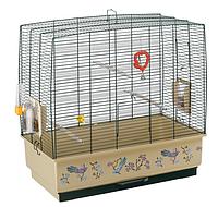 Клетка для канареек и маленьких экзотических птиц, c декоративным рисунком REKORD 4 DECOR FERPLAST