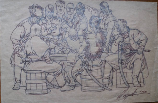 Козацька рада автор Сергій Якутович 2010 рік, фото 2