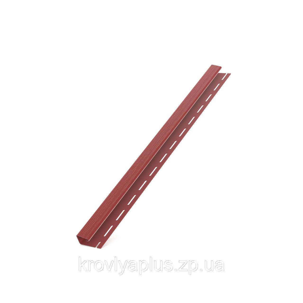 Соффит Планки  BRYZA (БРИЗА)  Джей профиль (J) красный