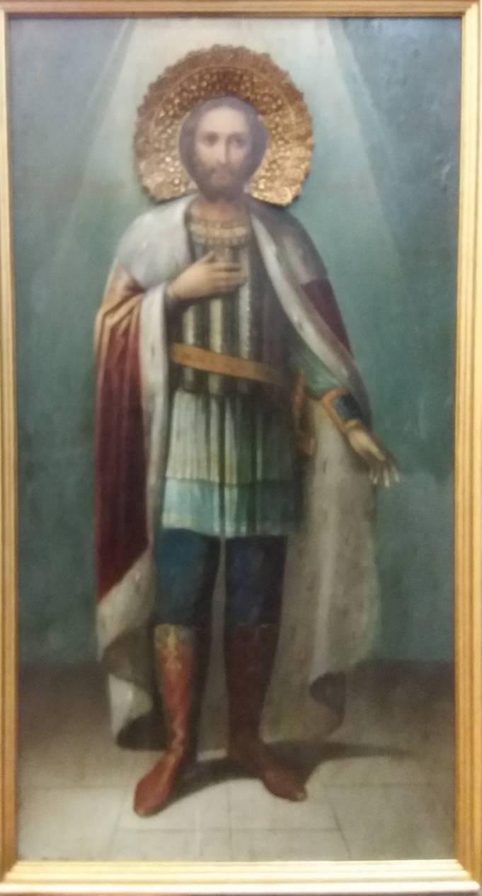 Икона св.Александр Невский 19 век