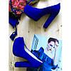 Замшевые туфли c открытым носочком на высоком каблуке  St95-8Ok-Os