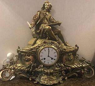 Часы каминные F.Sporhase Санкт-Петербург 19 век, фото 2