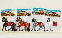 Конь Флоксовый 4 вида, в пак.21*14см(29-31)