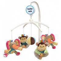 Карусель плюшевая - Слоны и обезьяны, в кор. 36*22*7см, ТМ Baby Mix(M/00/794M)