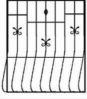 Решетка на окно сварная с элементами ковки - 73