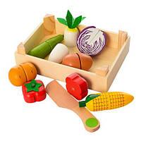 Деревянная игрушка Продукты, пазлы, магнитные, 8предм, ящик, в пак. 18*13*4см (48шт)(MD1073)