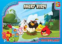 """Пазлы из серии """"Angry Birds"""", 70 пазлов, размер полотна 21*30см, кор.19*13*3см(B001022)"""