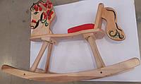 Лошадка-качалка из массива березы, с ручной росписью, 60*80*100см, произ-во Украина(LK160)
