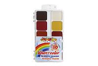 Акварель,медовая,б/п,10цветов, впластиковойкоробке(7229)