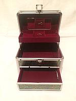 Сундучок для бижутерии с полочками, фото 1