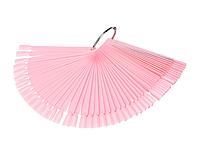 Палитра веер на кольце розовая, 50 типсов
