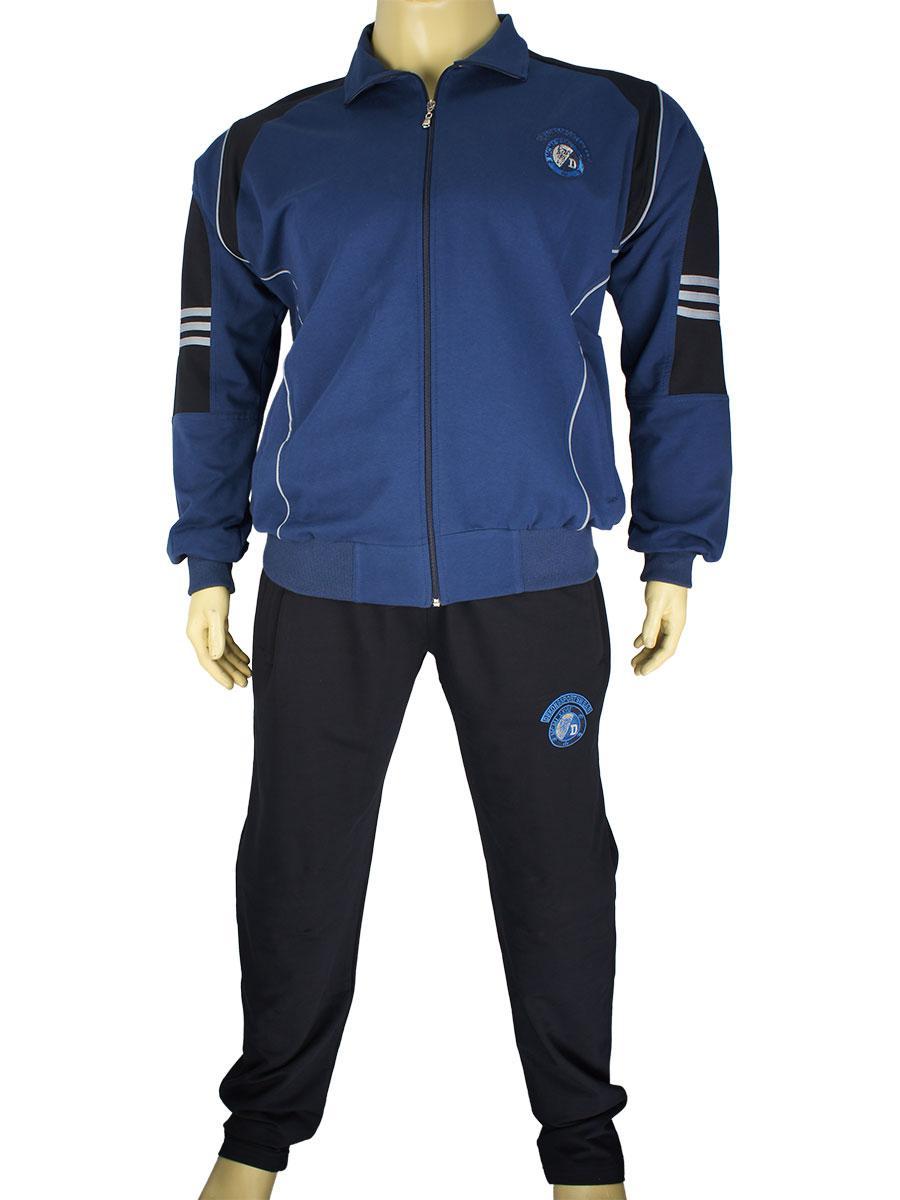 Синій чоловічий спортивний костюм Dekons 1817 B великого розміру