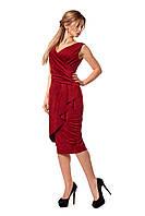 Замшевое платье приталенного силуэта