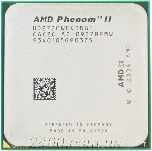 Процессор AMD Phenom II X3 720 2.8GHz/6MB/4000MHz (HDZ720WFK3DGI) Socket AM3/AM2+