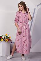 Красивое длинное платье рубашка с вышивкой 128
