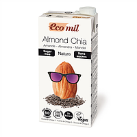 Молоко миндальное с семенами Чиа без глютена Ecomil 1л Испания