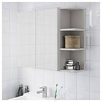 Шкаф с зеркалом LILLANGEN 79х21x64 см белый/серый