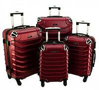 Комплект чемоданов RGL 730 4 в 1 Бордовый, набор чемоданов на колесиках