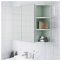 Шкаф с зеркалом LILLANGEN 79х21x64 см белый/зеленый