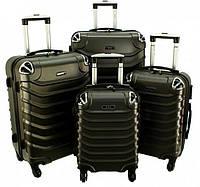Комплект чемоданов RGL 730 4 в 1 Графитовый, набор чемоданов на колесиках