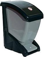 Відро для сміття з педаллю 12 л чорно-сірий