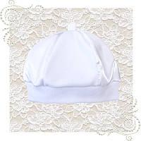 Белая нарядная шапочка на выписку, крещение