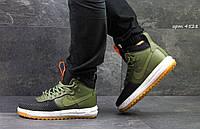 Кроссовки Nike Air Force LF-1 (черно зеленые) женские кроссовки найк 4528