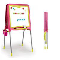 Smoby Двосторонний мольберт з регулируемыми ножками 410303 розовый