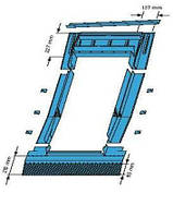 Оклад ZIE для профилированной кровли (окно 65x118 см)