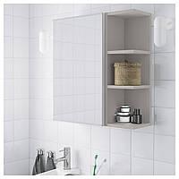 Шкаф с зеркалом LILLANGEN 59х21x64 см белый/серый