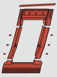 Оклад  для окон с блоком WD (65x118 см)