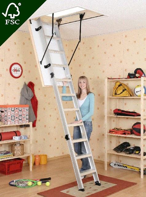 Чердачная складная лестница Oman Alu profi