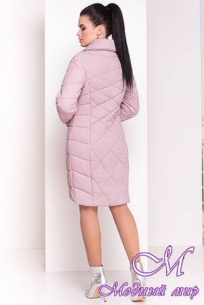"""Женское стеганое демисезонное пальто (р. XS, S, M, L, XL) арт. """"Сандра 4526"""" - 21530, фото 2"""
