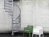 Винтовая оцинкованная лестница Fontanot Steel Zink D140, фото 1