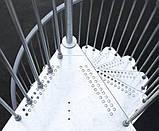 Винтовая оцинкованная лестница Fontanot Steel Zink D140, фото 4