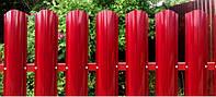 Штакетный металлический забор, штакетник, фото 1
