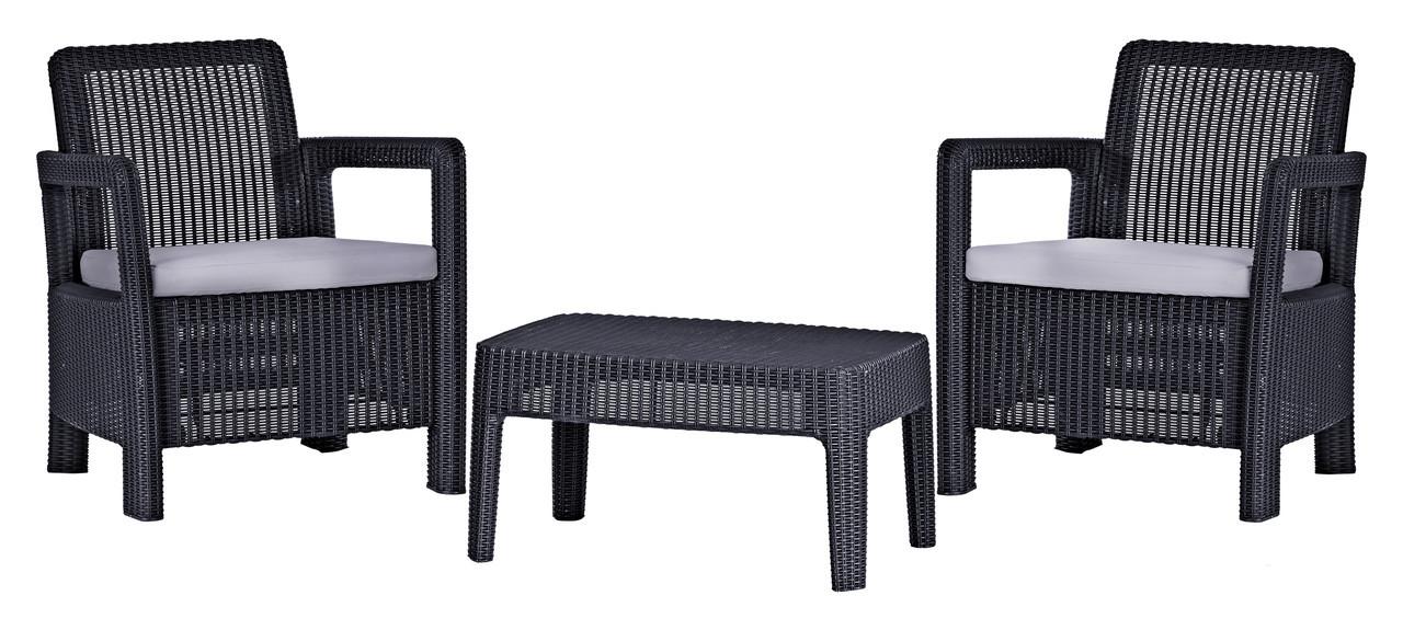 Комплект пластиковой мебели Tarifa Balcony Gray