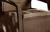 Кресло из искусственного ротанга Corfu Duo, коричневый, фото 2