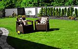 Кресло из искусственного ротанга Corfu Duo, коричневый, фото 4
