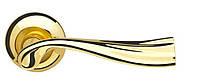 Ручка дверная на розетке Armadillo Laguna матовое золото/золото (Китай)