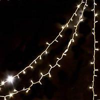 Новогодняя led гирлянда НИТЬ 10м БЕЛЫЙ КАУЧУК, фото 1